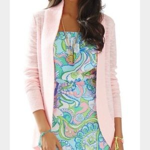 Lilly Pulitzer Pink Amalie Open Front Cardigan